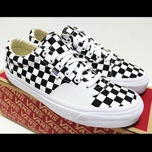 NIB VANS Style 205 Men's Checkerboard Black White